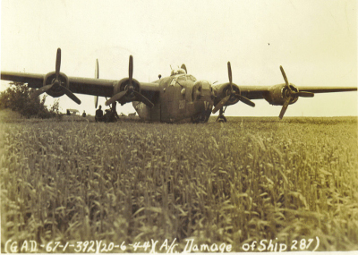 42-50287 Takeoff Accident -  20 Jun 44 Kuster Crew