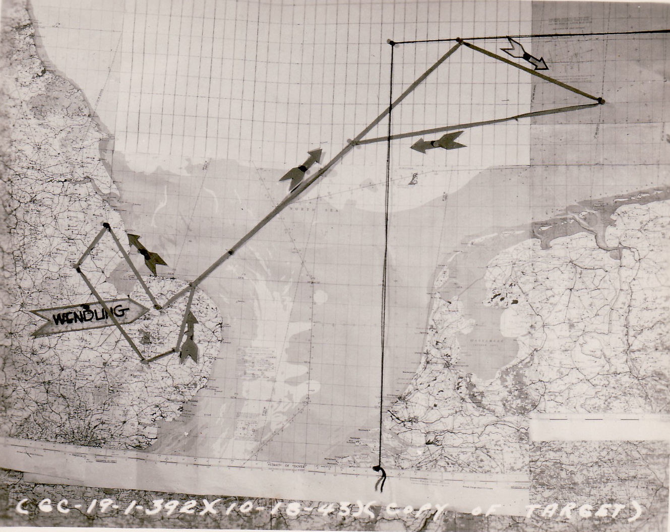 18Oct43 diversion mission route