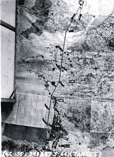 27 Mar 44 mission map