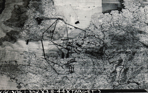 3 Aug 44 mission map