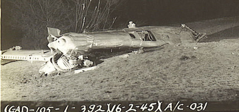 Mary Louise crash 16 Feb 45
