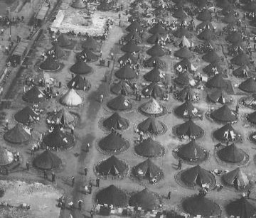 Tents POW camp