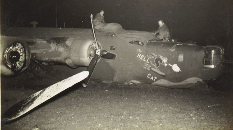 The Hell Cat landing accident 7Dec43