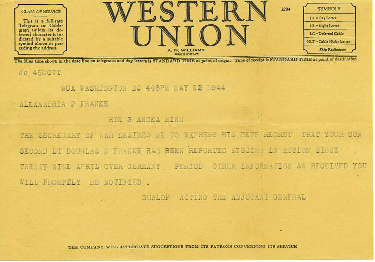 MIA telegram
