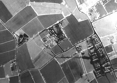 Site 5 can be seen in the centre of this aerial shot taken in 1944